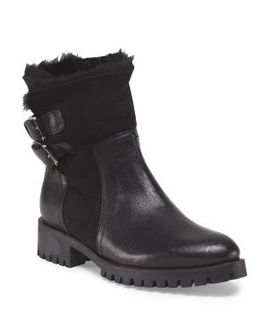 Stylish & practical for snowy weather:  Napoleon Italian shearling boots