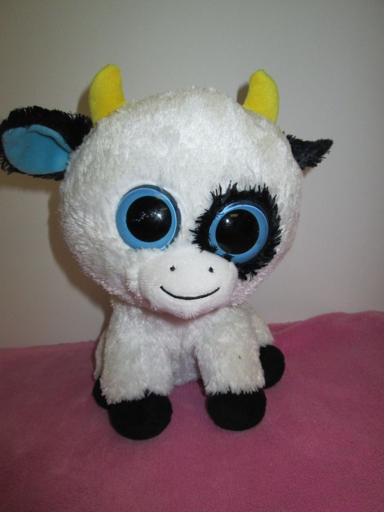 Daisy - Ty Beanie Boo The Cow Retired   Rare - NO HEART HANG TAG 9