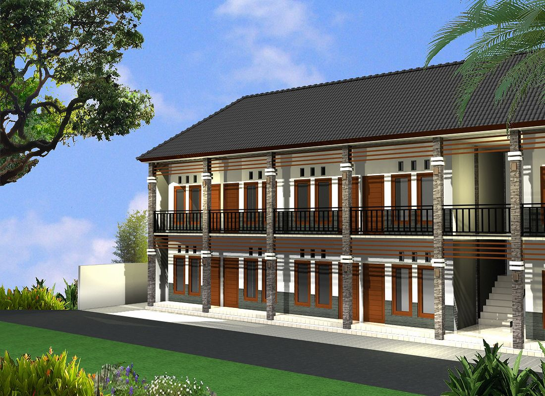 contoh desain rumah kos - kosan | architecture | home design plans