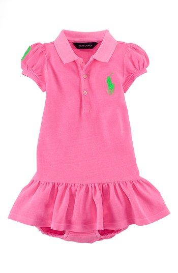 Ralph Lauren Polo Dress   Bloomers (Baby Girls) available at  Nordstrom 3539c95fdab