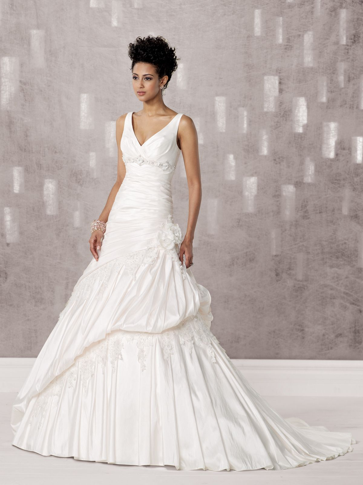 Kathy ireland for mon cheri wedding dresses style never