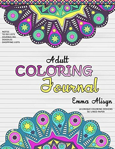 Adult Coloring Journal Lined Paper and Mandalas for Notes and - color lined paper