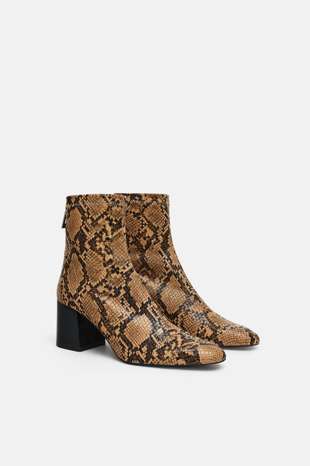 5ca0f0ad5920da Image 4 of HEELED ANIMAL PRINT ANKLE BOOTS from Zara | Shoes! in ...