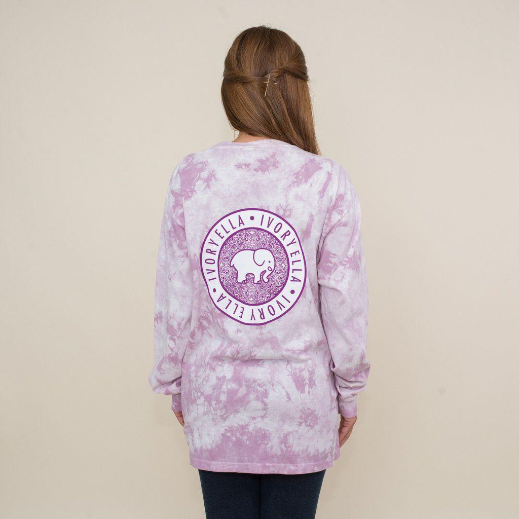 Pocketed lavender acid wash floral medallion print cute clothes