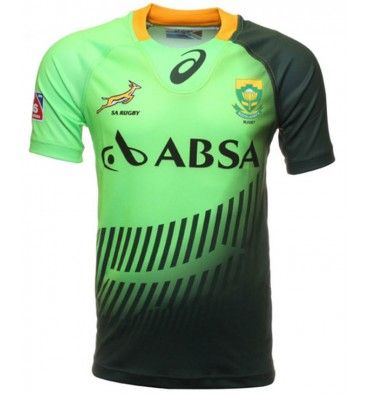 ad279eed7a1 Asics South Africa Springboks Sevens Home Match Shirt  http://www.fentonsportsonline.