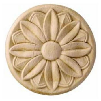 Corbels Wood Ornament Round Flower Carved Rose Design 3