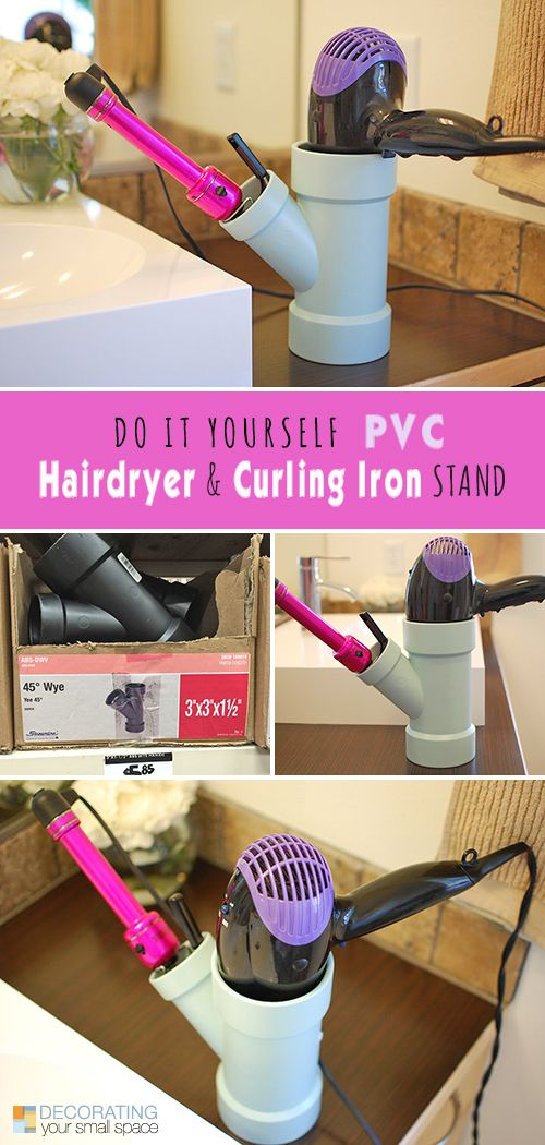 14 awesome pvc projects for the home easy diy projects iron and check do it yourself pvc hairdryer curling iron stand project check out this easy diy project and lots of other great projects using pvc solutioingenieria Choice Image