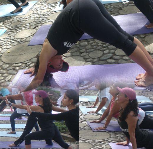 Día internacional del #yoga, Plaza las Morochas #Altamira #Caracas, gracias @pierinamariño @elartedevivirvenezuela