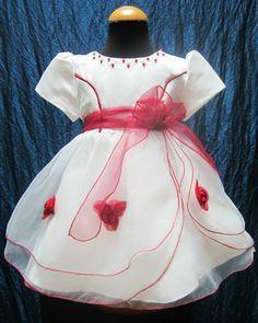 Bambina Bianco E Rosso Vestiti Battesimo ZPkiOXu
