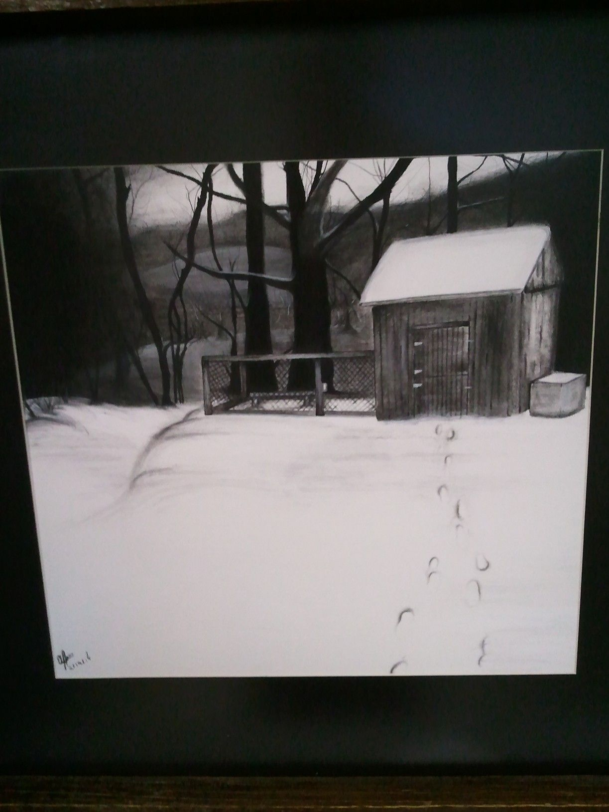 This is a charcoal drawing I did,