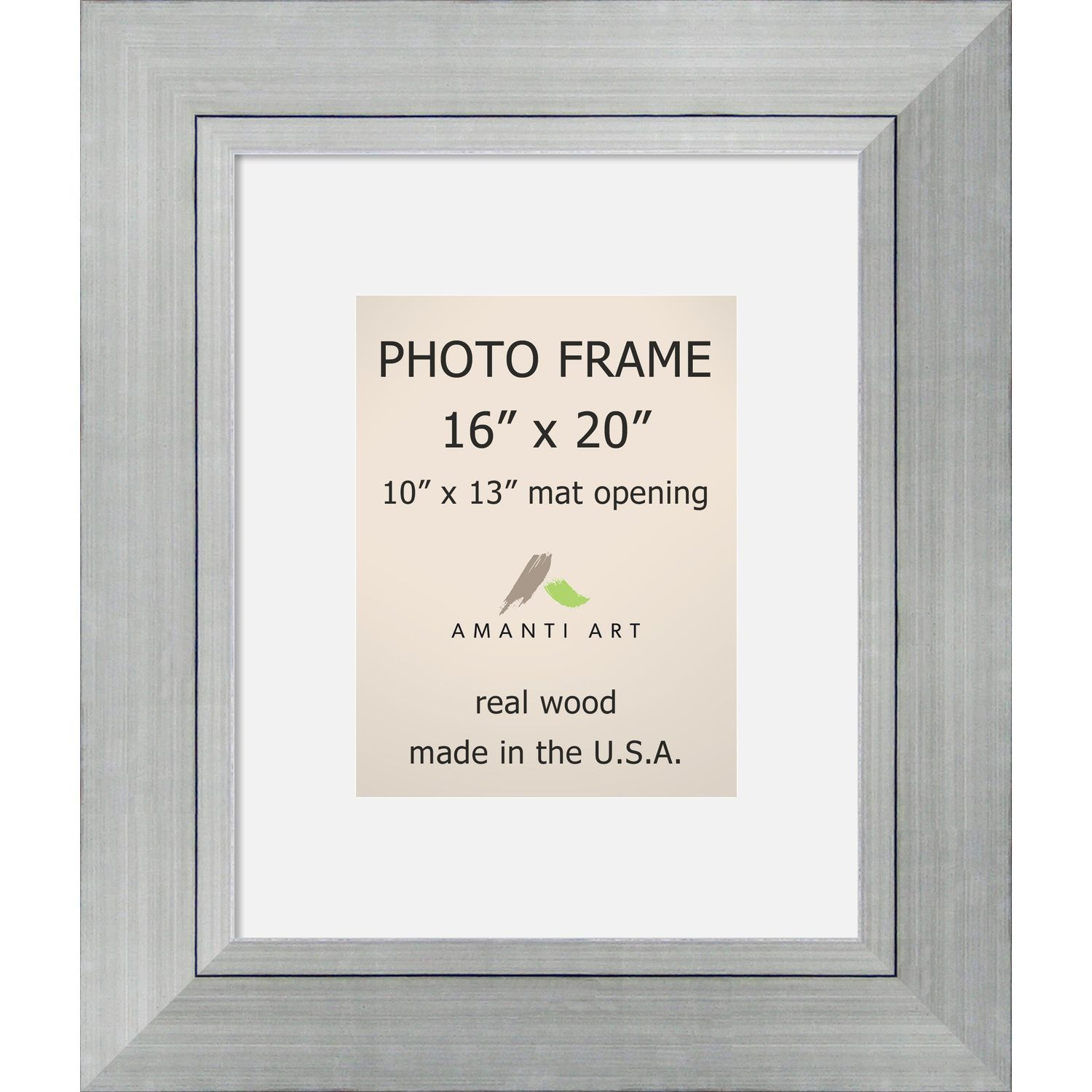 Romano Silver Photo Frame\' 23 x 27-inch (Silver Photo Frame Matted ...