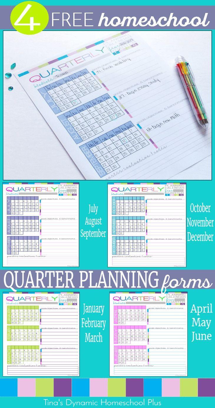 Homeschool Quarter Planning Form - Free UNIQUE 7 Step Planner ...
