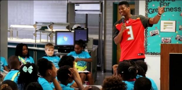That NFL QB Boys Jameis Are 5th  Winston Tells Graders