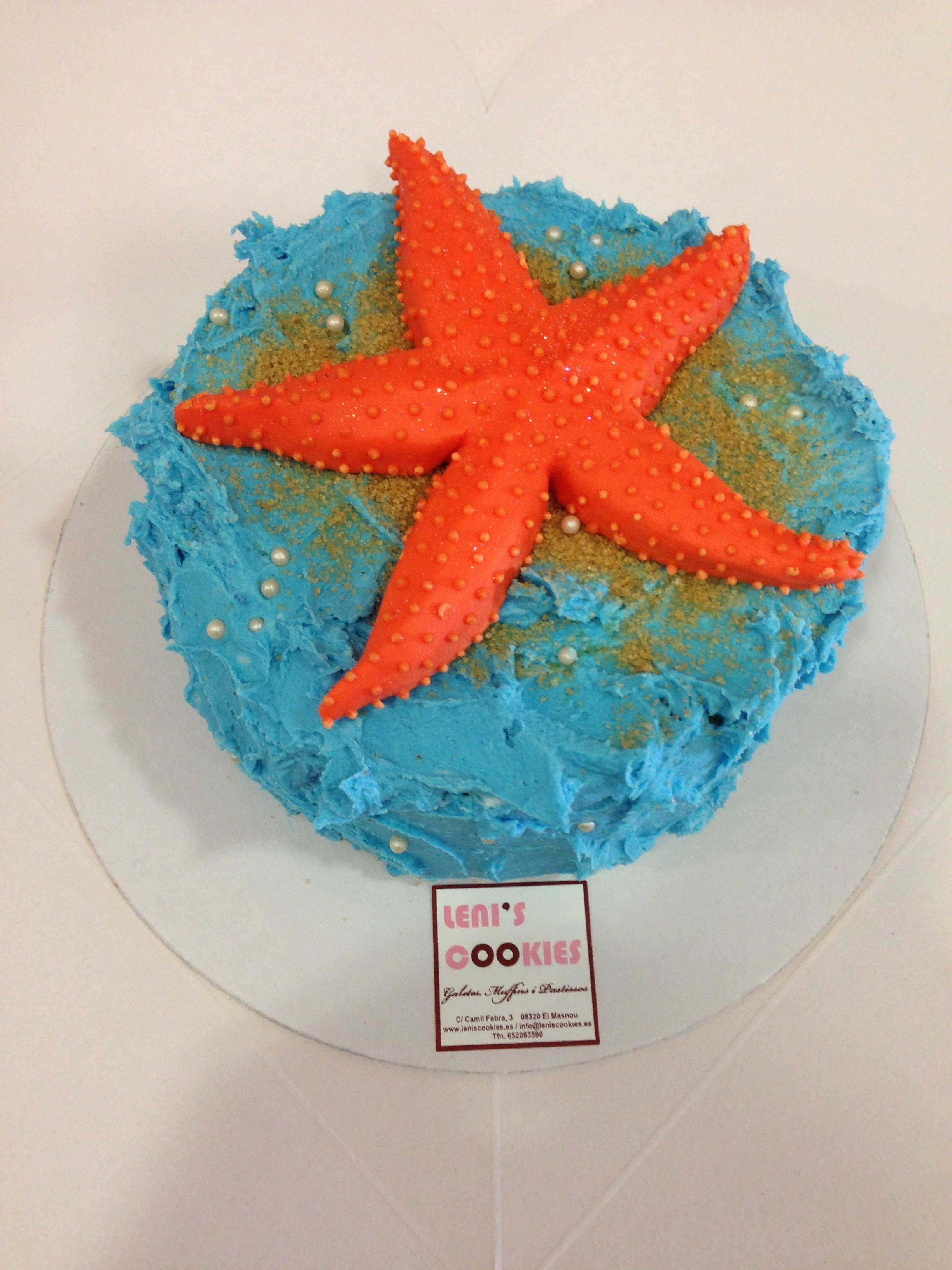 Tarta estrella de mar