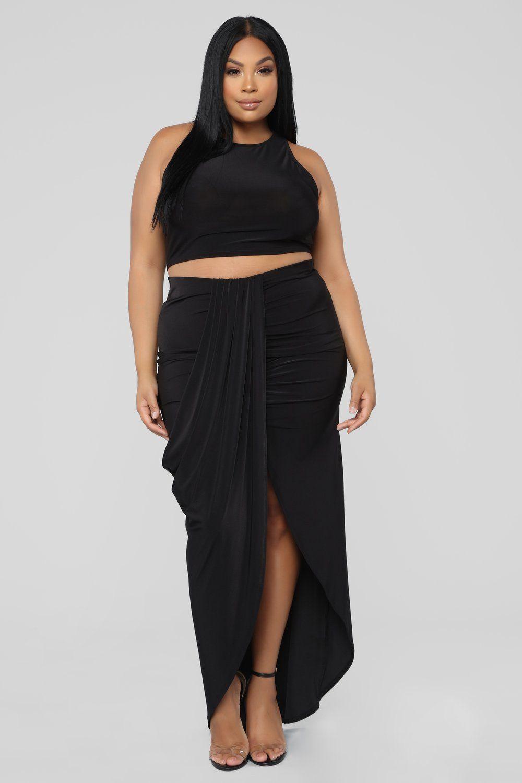 ff1c8172153 Evie Skirt Set - Black in 2019