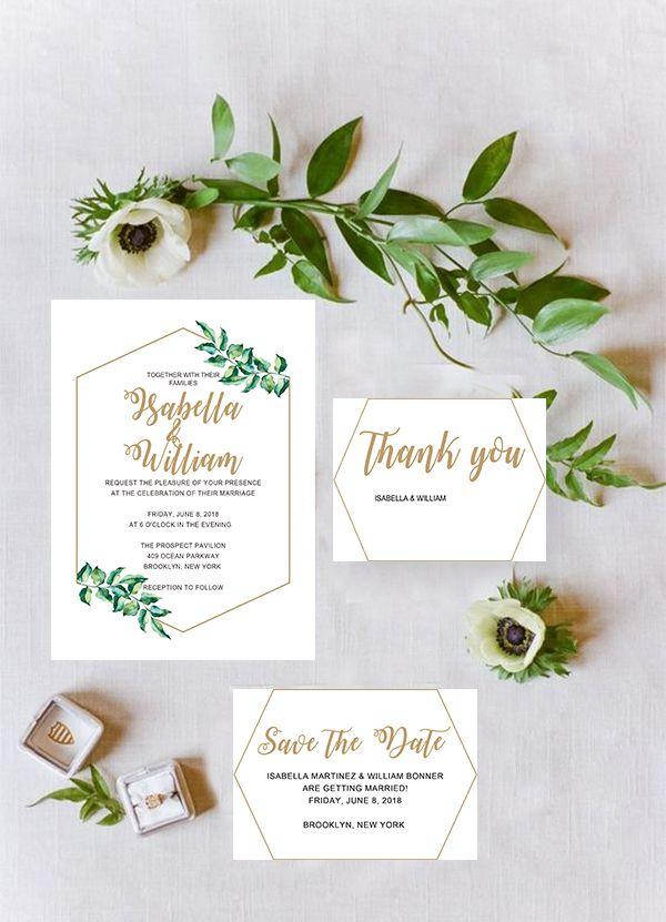 Printable Modern Simple Wedding Invitation WIP057 Spring weddings