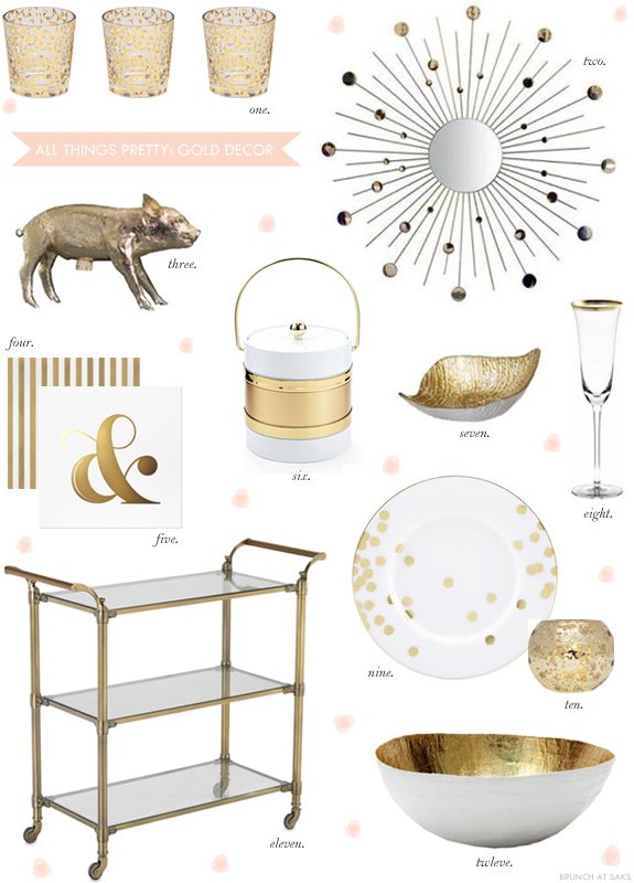 Gold Home Decor Accents Brunch At Saks