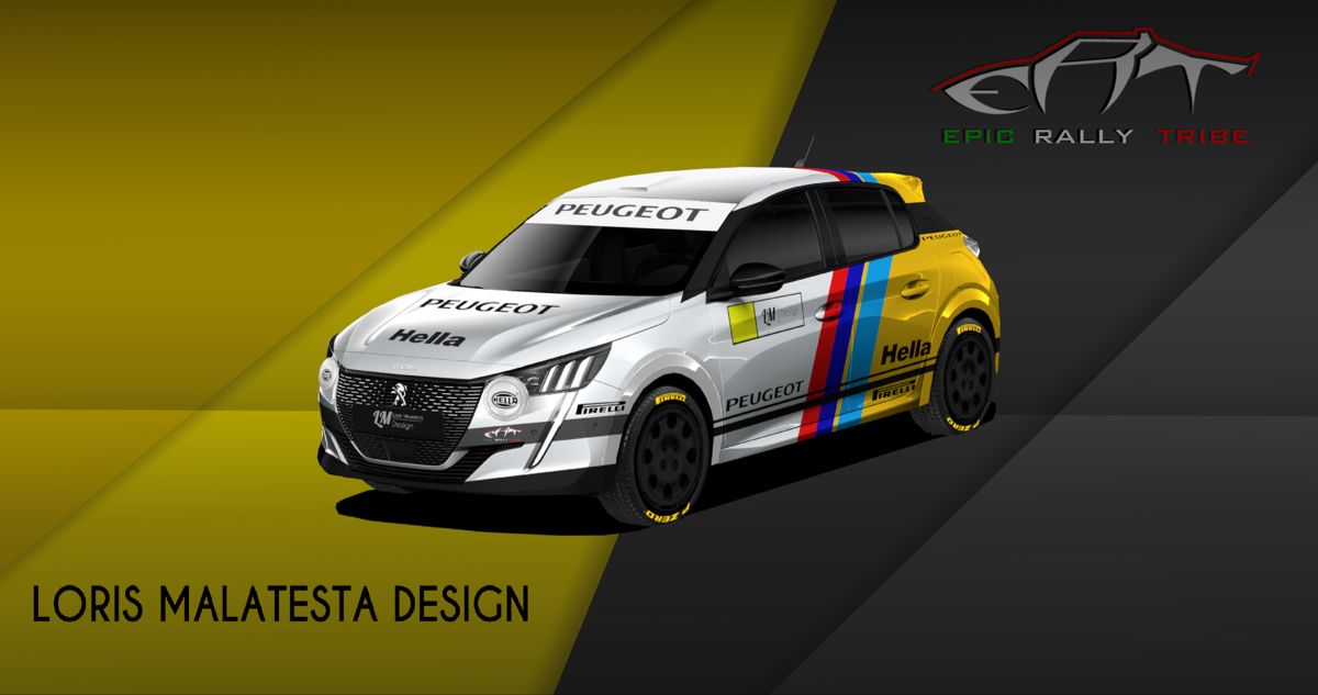 Peugeot 208 Rally4 Old Style #peugeot #rally #pirelli #cars #design #cardesign #motorsport