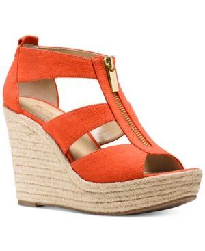 ef081308807f Michael Michael Kors Damita Platform Wedge Sandals - Tan Beige 5M ...