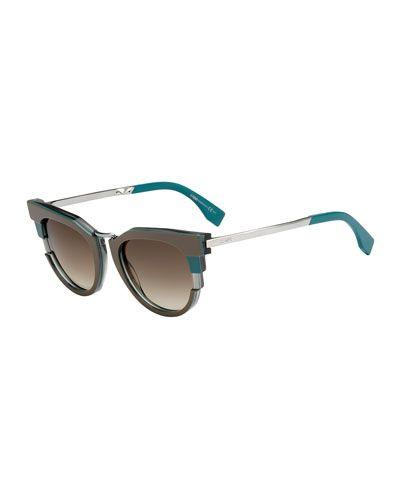 52837bcab785c D0T5G Fendi Colorblock Sunglasses