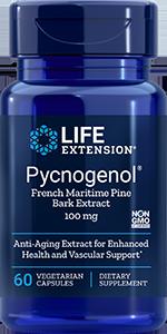 Pycnogenol French Maritime Pine Bark Extract 100 Mg 60 Vegetarian Capsules In 2020 Life Extension Ubiquinol Quercetin
