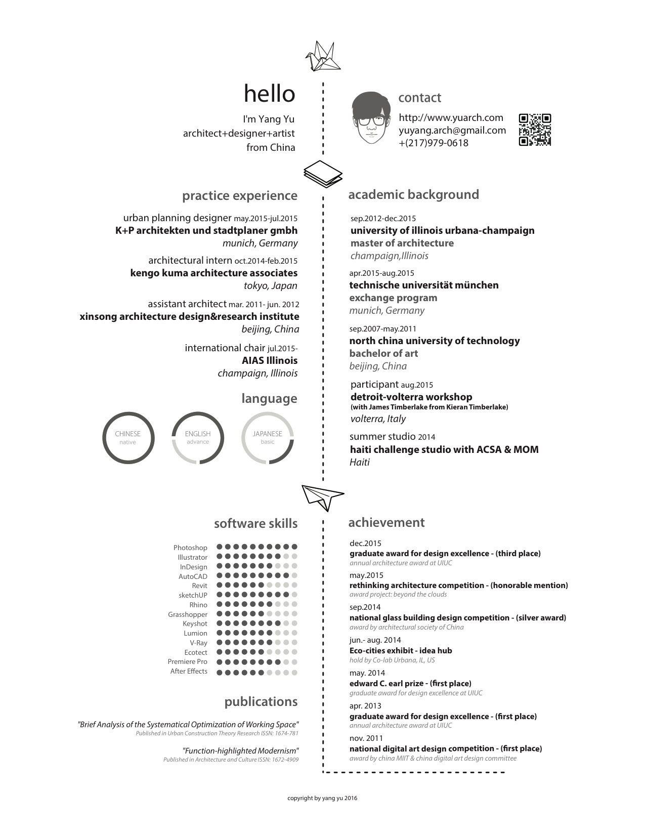 Gallery of The Top Architecture Résumé/CV Designs - 10   Portfolio ...