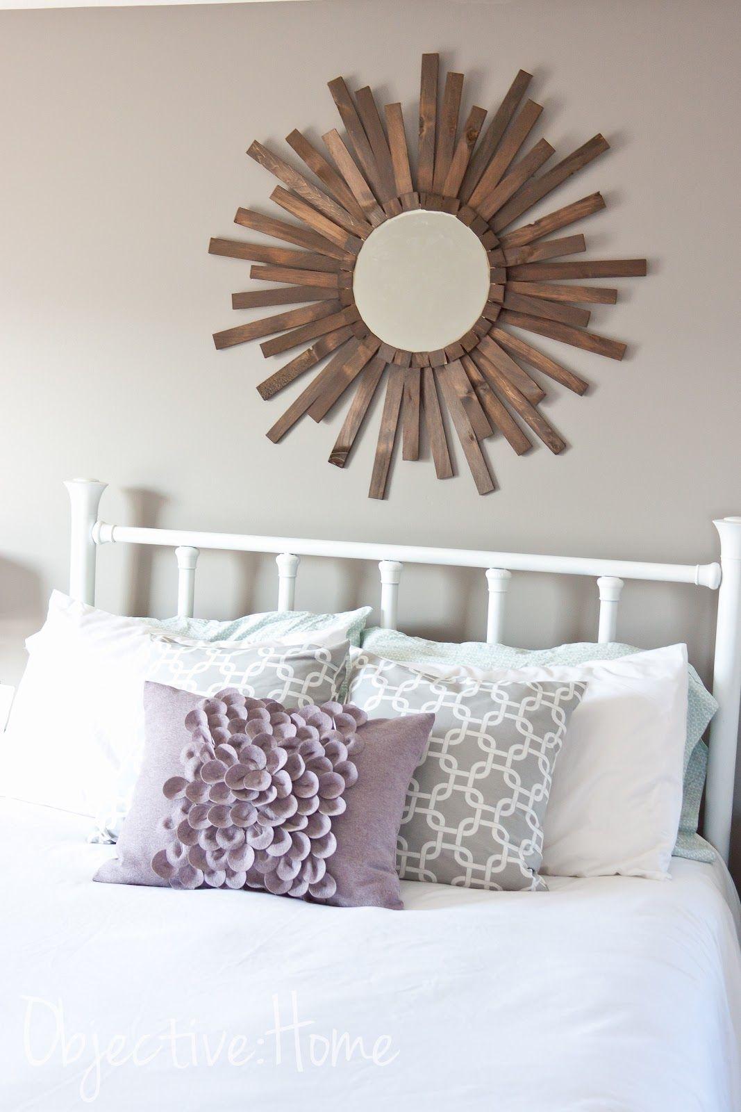 Master bedroom wall decor diy  DIY Cedar Sunburst Mirror For Under   Home Decor Ideas