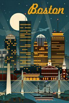 boston Vintage poster