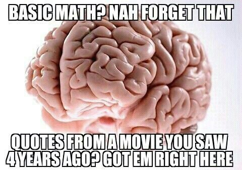 just like today math quiz didn't remember a thing after that i started quoting  pitch perfect like crazy!