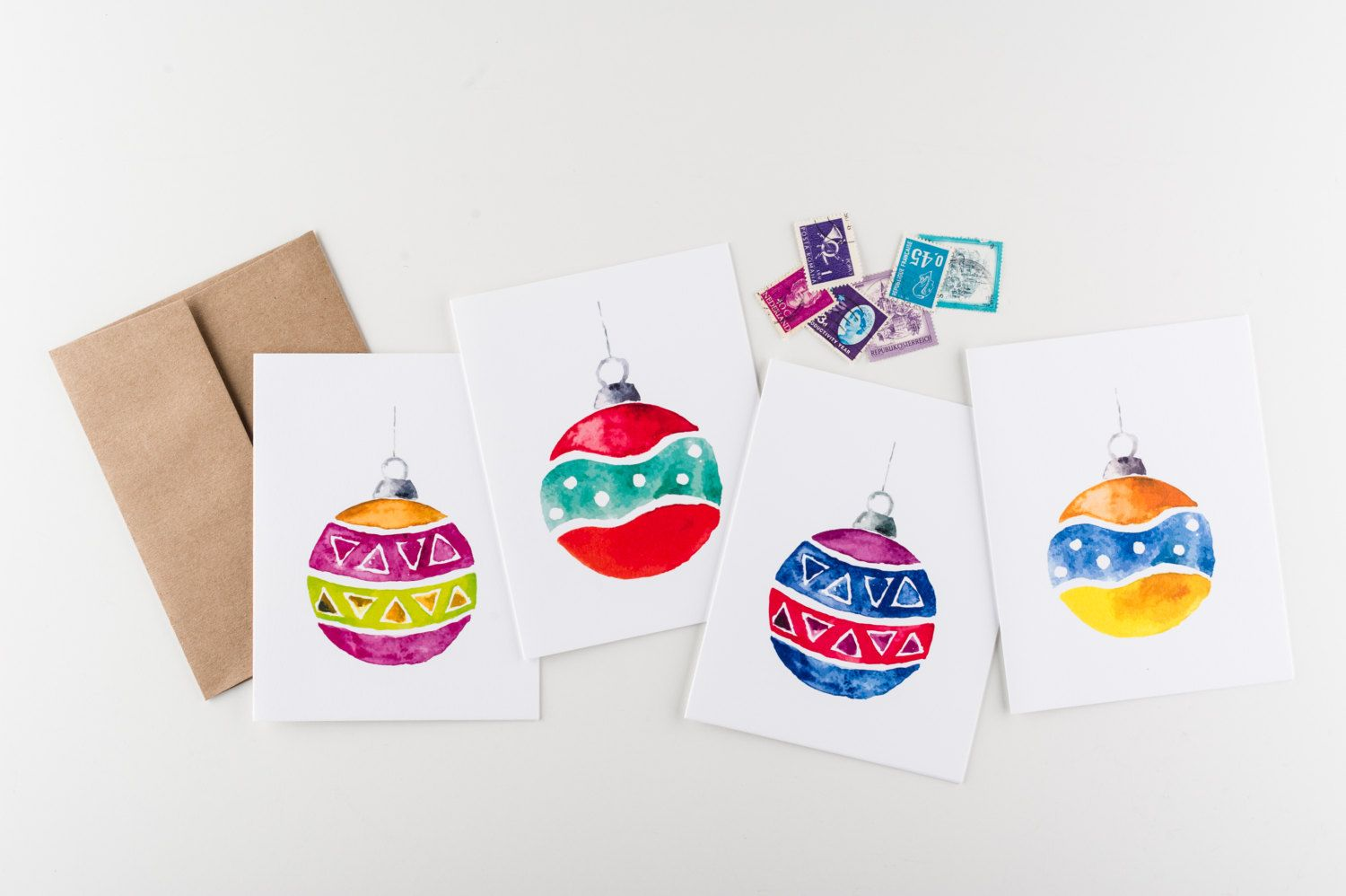 Winter Ornaments Stationery Set Boxed Set by Seahorse Bend Press ...