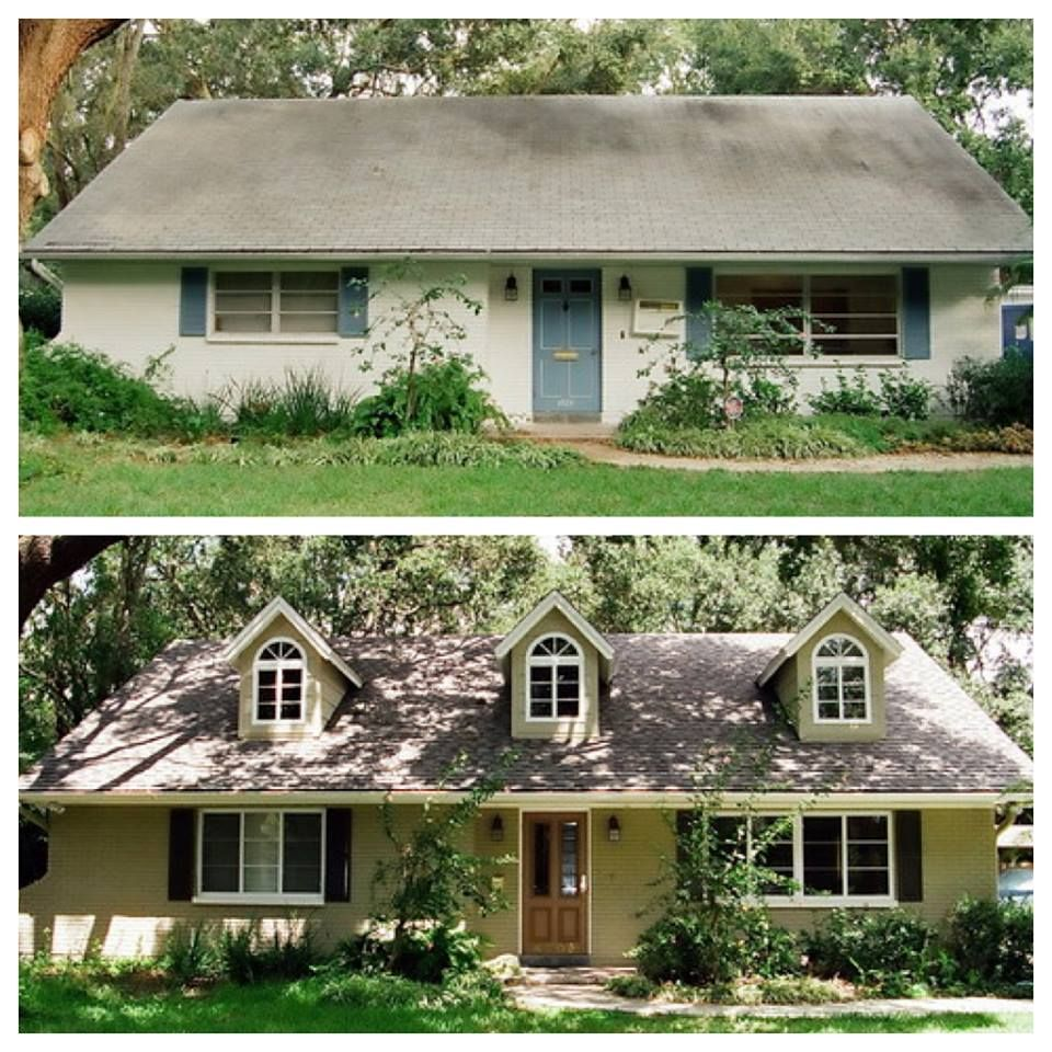 Another Great Houzz Makeover Photo This Is A Really Nice Way To - Home exterior remodeling before and after pictures
