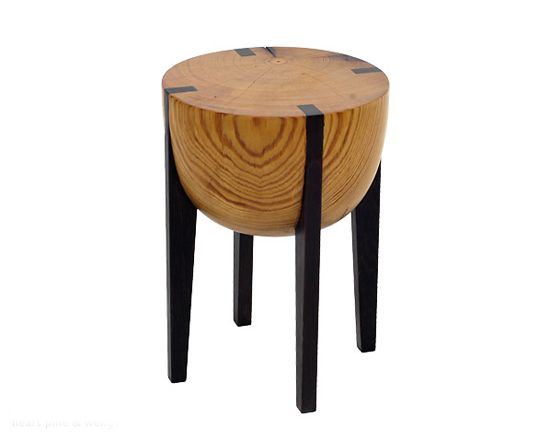 Heart Pine & Wenge RD Stool: Brandon Phillips: Wood Stool - Artful Home