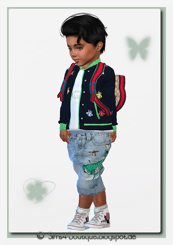 00b9a31b5 ☆ © Sims4-Boutique ♔: ☆ Designer Outfit for Toddler Girls & Boys ...
