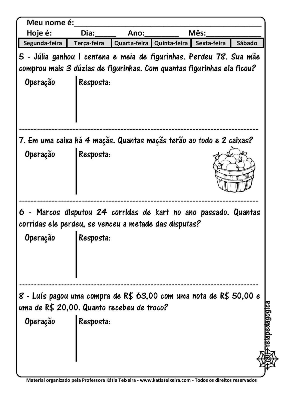 Pin Em Problemas Matematicos