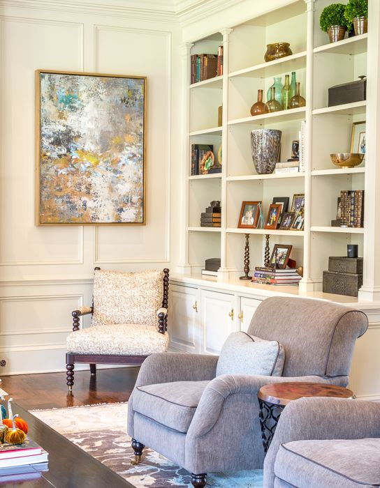 Abstract Room Designs: Original Abstract Painting Installed In This Living Room