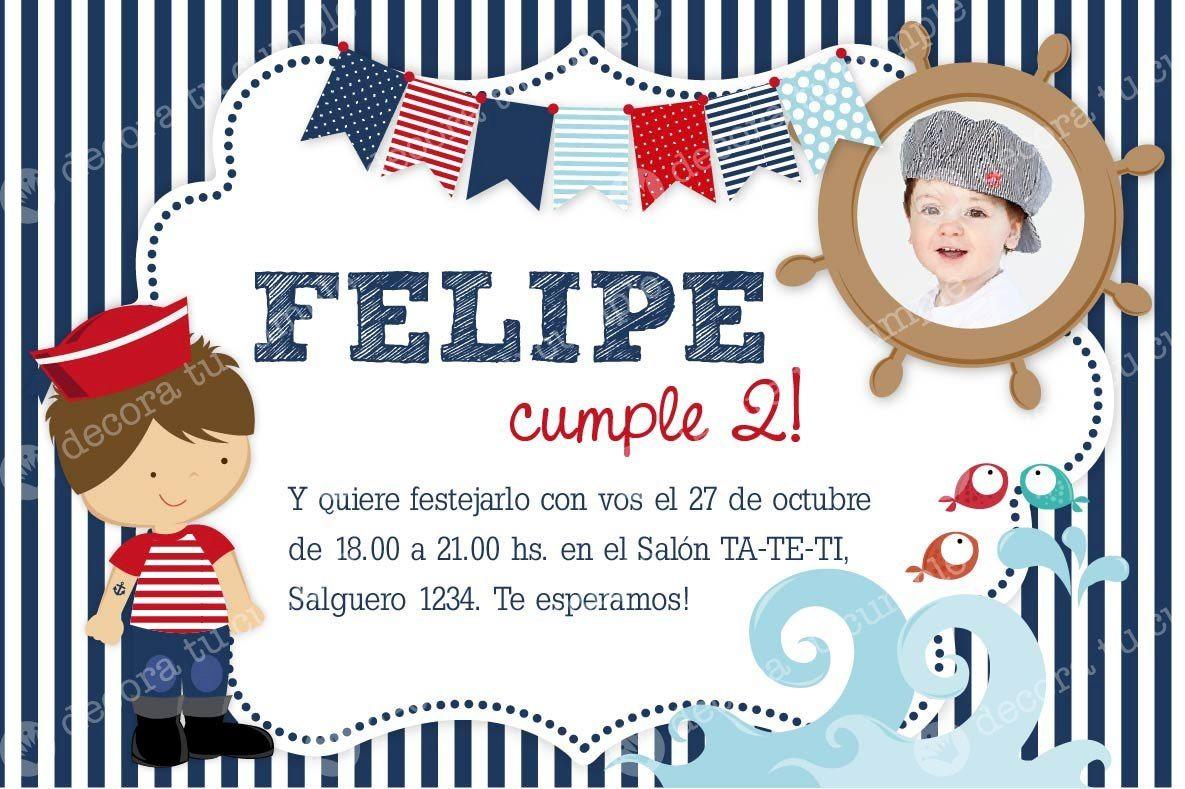 Tarjetas De Cumpleaños De Marinero Imagui Cumpleaños