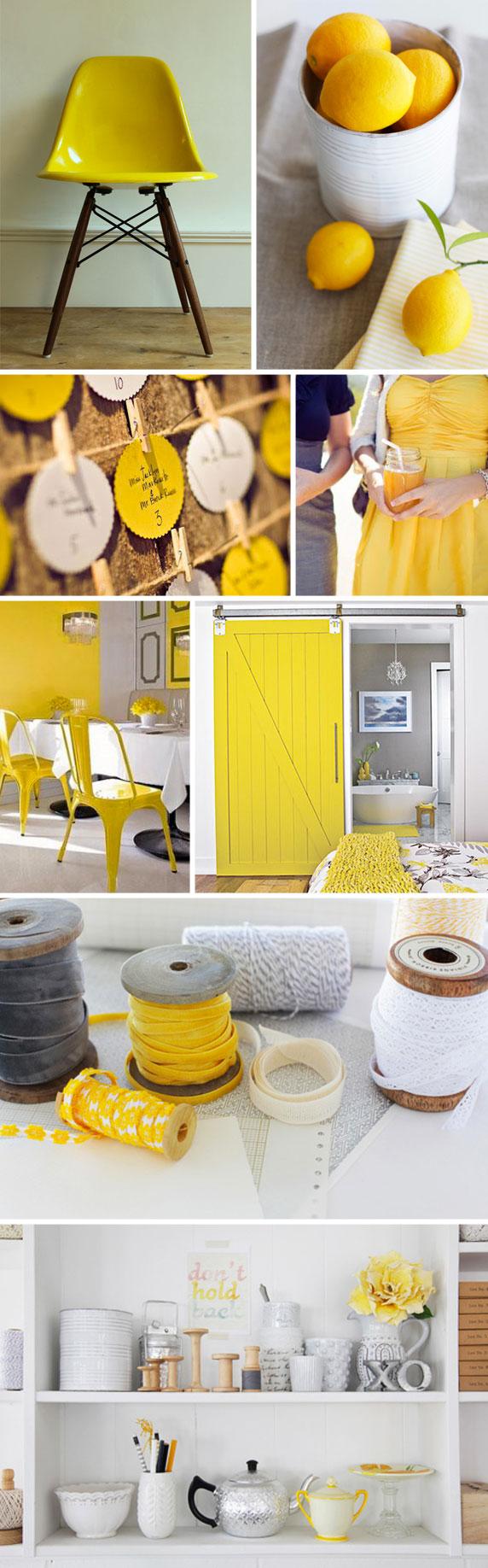 citron & yellow against white