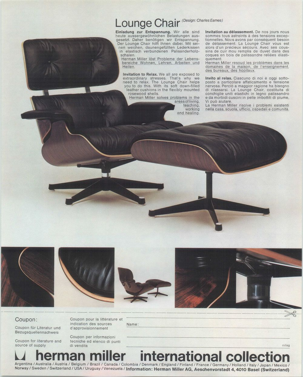 Classic Charles Eames Lounge Chair For Herman Miller. SesselWohnzimmerEames  ...