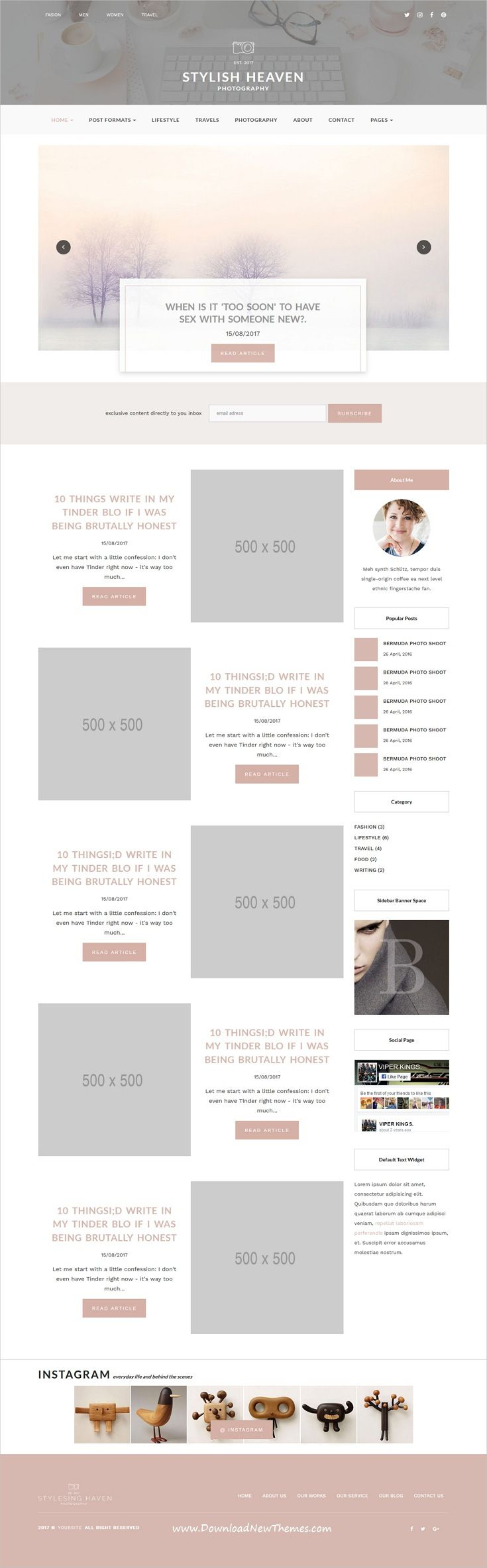 Stylish Heaven - Personal Blog - HTML Template | Template
