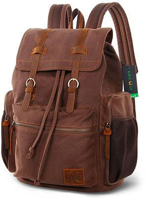 Life wit 17- Inch Canvas Laptop Backpack. Find this Pin and more on Top 20  Best Leather Backpacks In 2017 Reviews ... d91cb4516a416
