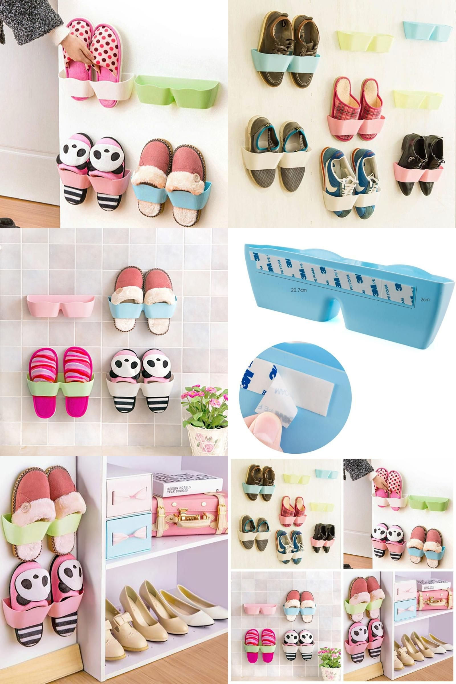 Visit to buy shoes orgnaizers plastic wall hanging shoes storage