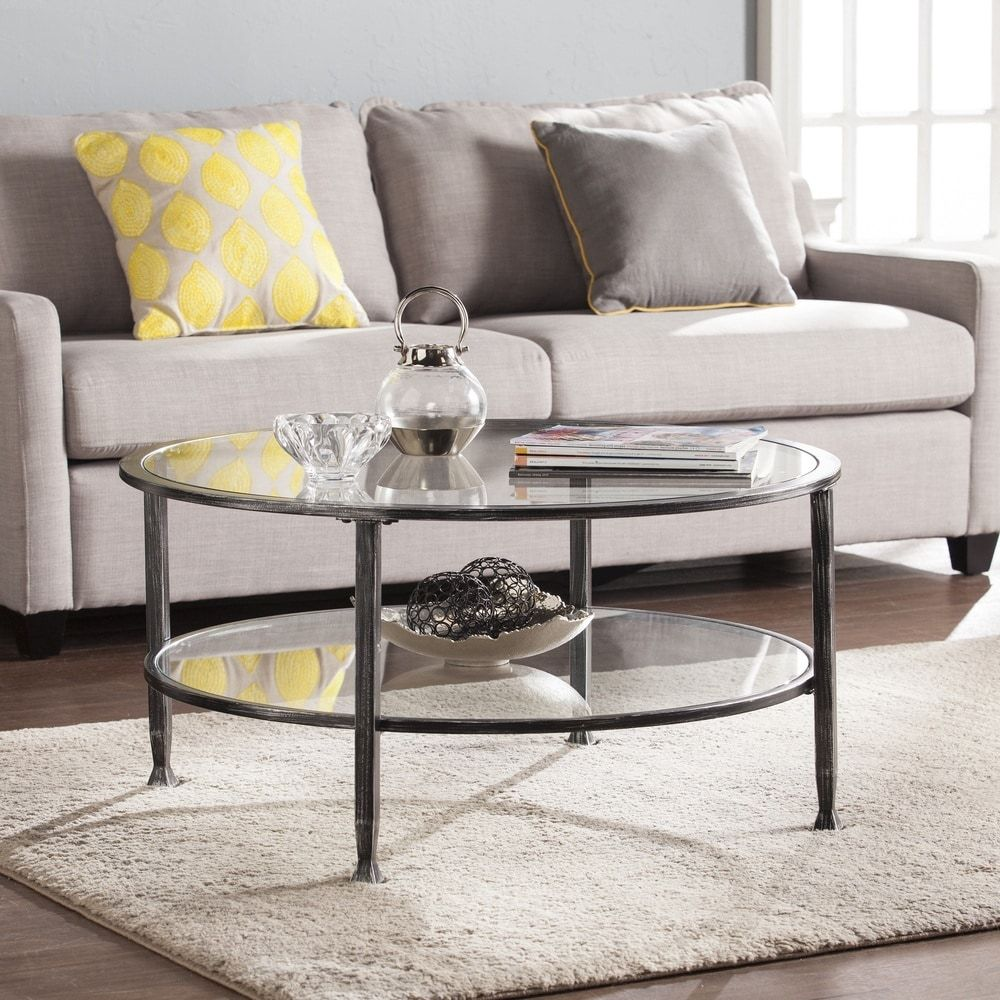 Overstock Com Online Shopping Bedding Furniture Electronics Jewelry Clothing More Round Glass Coffee Table Round Metal Coffee Table Round Cocktail Tables [ 1000 x 1000 Pixel ]