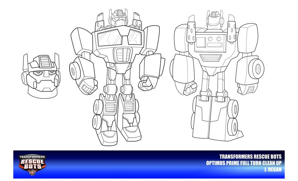 Coloring Pages Rescue Bots : Rescue bots optimus prime clean up by thegreatjery