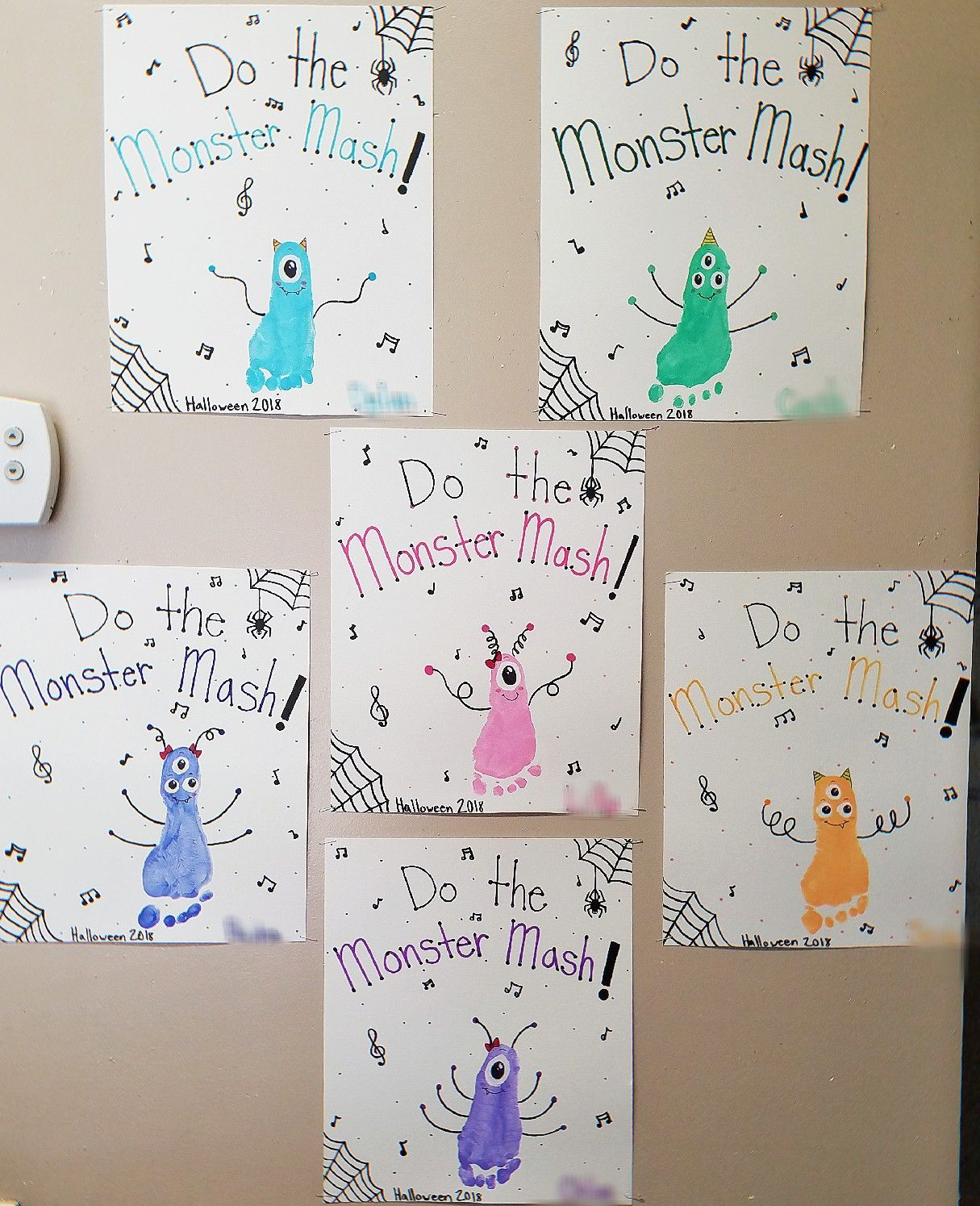 Monster Mash Footprint Craft For Halloween By Abby Young