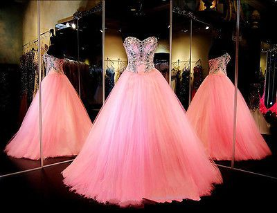 New Beaded Quinceanera Dress Formal Prom Party Pageant Ball Gown Evening Dress in Clothing, Shoes & Accessories,Women's Clothing,Dresses | eBay