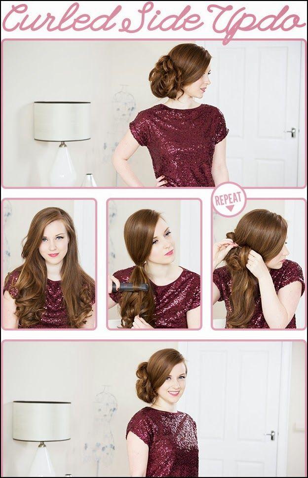 Long hair updos tutorialrled side updorly hair tutorial long hair updos tutorialrled side updorly hair tutorialrly updo pmusecretfo Images