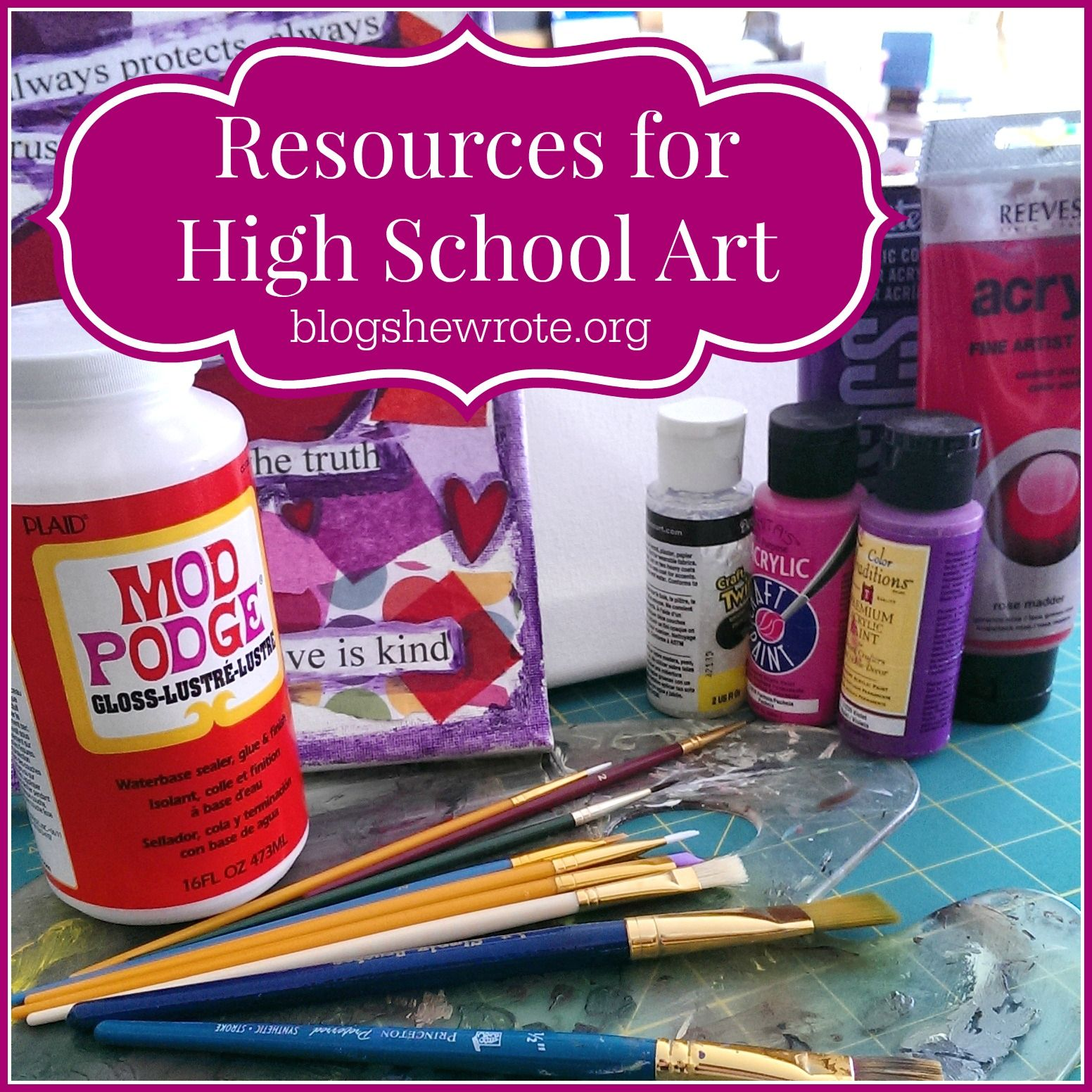 Resources For High School Art