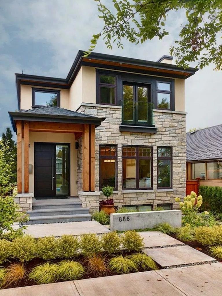 21 Elegant And Cozy Home Desain Ideas Dreamhouse Homedesain Homeideas Amplifiermountain Org Dream House Exterior House Exterior Modern Front Yard