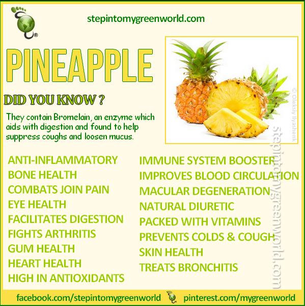 ☛ Do YOU eat pineapples?  CHECK THE AMAZING HEALTH BENEFITS OF PINEAPPLE JUICE:  http://www.stepintomygreenworld.com/helathyliving/greenfoods/healing-benefits-of-pineapple-juice/  ✒ Share | Like | Re-pin | Comment