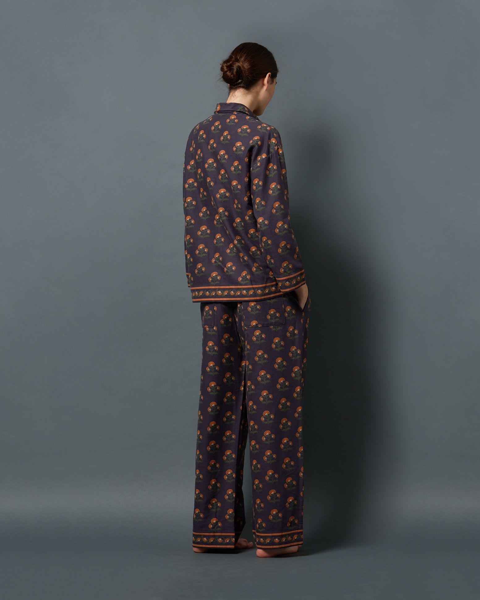 Womens Soft Fleece Warm Traditional Button Bed Jacket Nightwear Gown